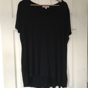 Philosophy black Rayon blend short sleeve top 2X